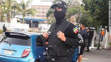 Image of William in uniform when he was on duty and active in Venezuela, before he deserted.