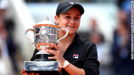 Ashleigh Barty clinched the French Open title in Paris in June 2019.