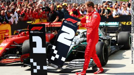 Vettel swapped the number boards after the Canadian Grand Prix.