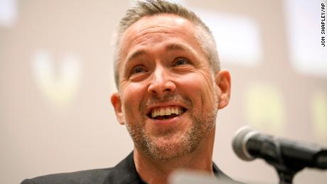 J.D. Greear, president of the Southern Baptist Convention, speaks during a preliminary meeting at the group's annual gathering Monday in Birmingham, Alabama.