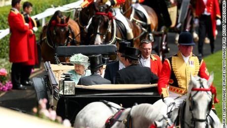 Queen Elizabeth II arrives with the Royal Procession during Royal Ascot last year.