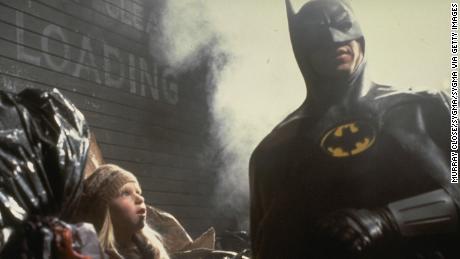 Michael Keaton on the set of Batman & # 39;