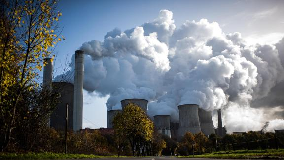 Steam rises from a coal-fired power plant in Germany.