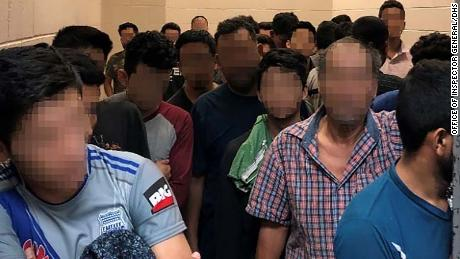 Standing room only for adult males observed by OIG on June 10, 2019, at