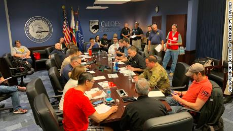 State leaders for emergency management are coordinating mutual aid and regional response from State Operations Center - focused on meeting the need in the Ridgecrest/Kern Co area.