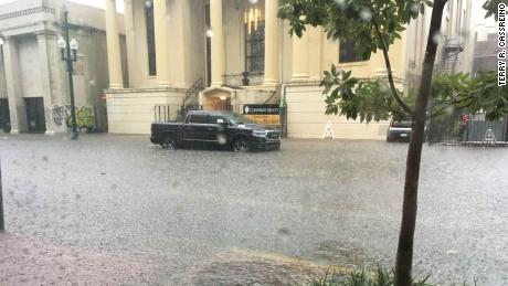 New Orleans floods ahead of a possible hurricane
