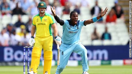 England's Jofra Archer claimed two wickets in another impressive display.