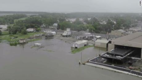 Drone aerials of Morgan City, Louisiana.