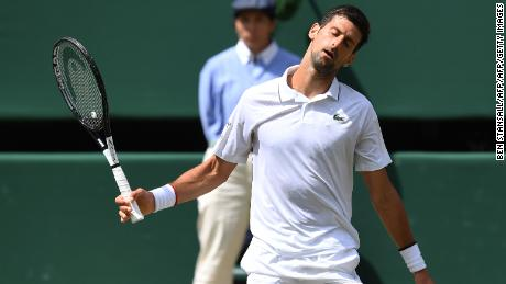 Novak Djokovic became frustrated as errors crept into his game.