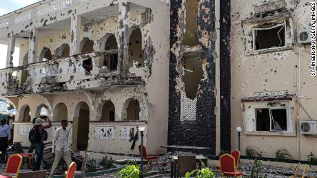 Attackers detonated a car bomb at the hotel gates, before four gunmen entered and began shooting.