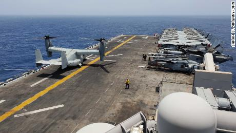 On the ship that downed a military drone, one small mistake could cause a war with Iran