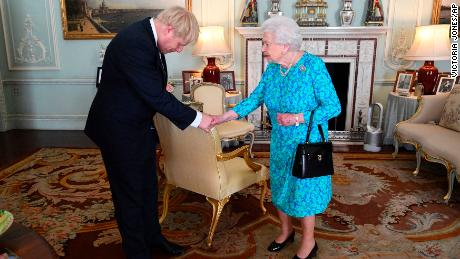 The Queen meets Johnson at Buckingham Palace on Wednesday.