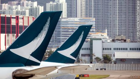 Strikes in Hong Kong force Cathay Pacific to cancel more than 150 flights