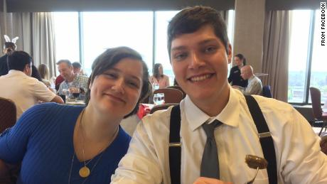 Connor Betts is shown with his sister Megan. Police said Betts killed Megan and eight others Sunday.
