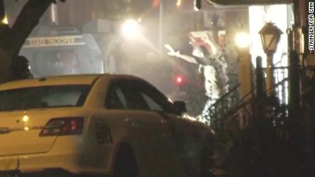 The Philadelphia shooting suspect  surrendered early Thursday.