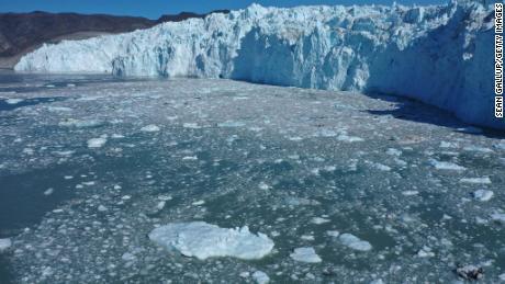 Eqi Glacier in Greenland.