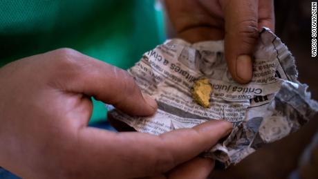 Gold after being processed from underground mines in Venezuela.