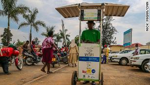 Solar powered kiosks are charging phones in Rwanda