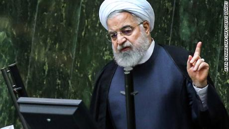 Iran's President Hassan Rouhani speaks in Parliament on September 3, 2019 in the capital Tehran.