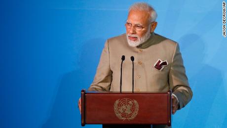 India's Prime Minister Narendra Modi addressed the Climate Action Summit in the United Nations General Assembly on Monday.