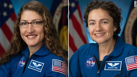 Astronauts Christina Koch and Jessica Meir successfully complete the first female spacewalk