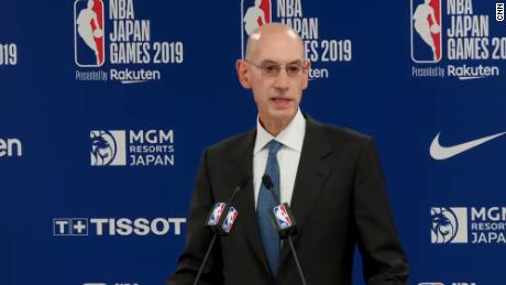 NBA chief Adam Silver says profit can't come before the league's principles