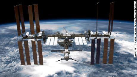 An Israeli-Russian project succeeded in growing meat on the International Space Station, seen here in a file photo from 2011.