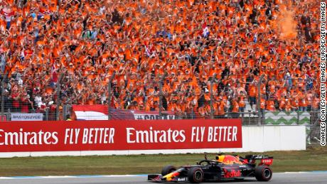 The 'Orange Army', as the Dutch sports fans are known, are vociferous supporters of Mac Verstappen.