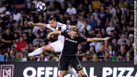Ibrahimovic (in white) admitted this could be his last match in the MLS.  The striker is out of contract with the LA Galaxy, following the team's season-ending loss to LAFC.