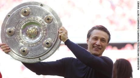 Niko Kovac durante i tempi più felici come manager del Bayern Monaco.