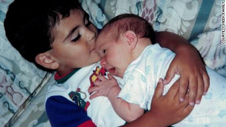 Justin and his sister were born three years apart, but they were so close that their mother called them fraternal twins.