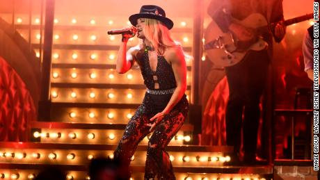 Carrie Underwood hosted and performed at the 53rd Annual CMA Awards.
