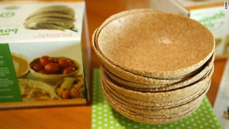 These biodegradable bowls made from wheat can be eaten as part of your meal.