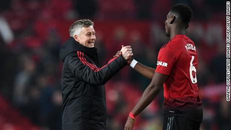 Allenatore Manchester United Ole Gunnar Solskjaer nazionale francese Paul Pogba.