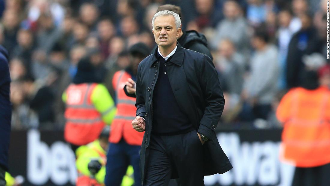 Jose Mourinho: Tottenham Hotspur FC secures Premier League win against West  Ham United - CNN