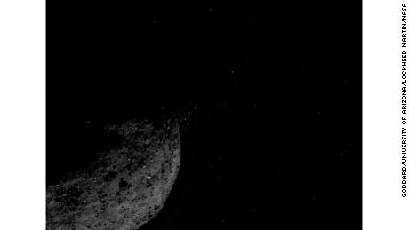 NASA mission catches asteroid near material in space