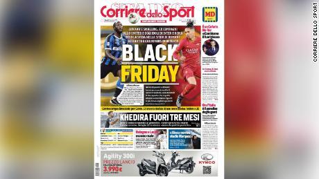 Corriere dello Sport ha difeso giovedi's front page.