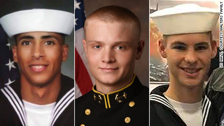 Shamrani's victims: Airman Mohammed Sameh Haitham, Ensign Joshua Kaleb Watson and Airman Apprentice Cameron Scott Walters.