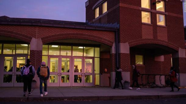 """Some 1,600 students attend Wilbur Cross High School. Principal Edith Johnson says she was shocked to learn ICE had detained a student. """"I just remember thinking, 'Wow, this is way bigger than me, way bigger than the school. This kid really needs help.'"""""""