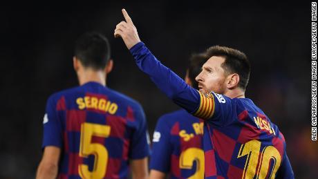 Lionel Messi sarà sperando di Barcellona di Champions League.
