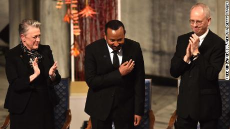 Ethiopia's Abiy Ahmed calls for peace in the Horn of Africa as he receives the Nobel Peace Prize medal
