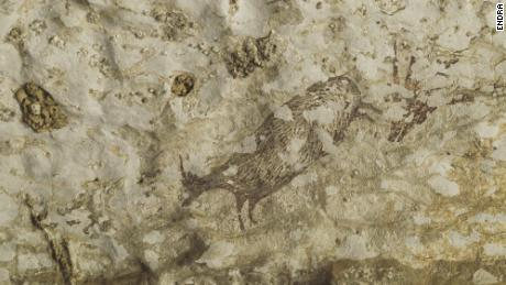 The art in this Sulawesi cave is thought to depict half-animal, half-human hybrids.