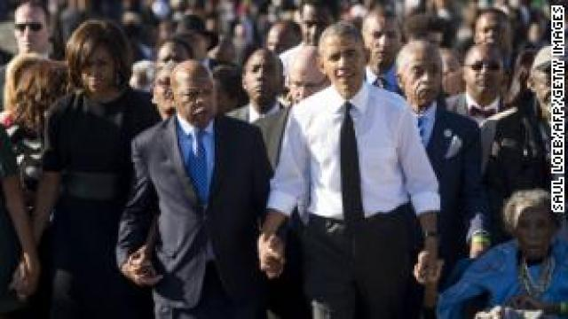 Obama pays tribute to his 'hero' John Lewis: 'John's life was exceptional'