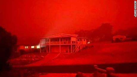 Thousands of Australian residents had to take refuge on a beach while the fires raged