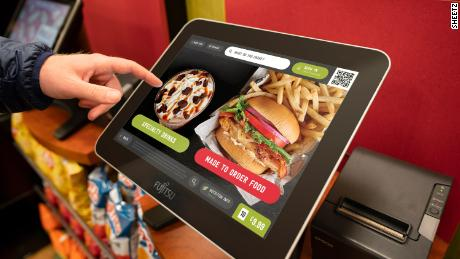 At Sheetz, customers place their orders on touch screens.