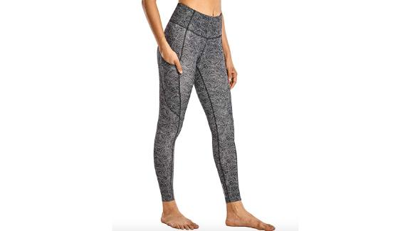 CRZ Yoga Women's Naked Feeling High-Waist Yoga Pants With Pockets