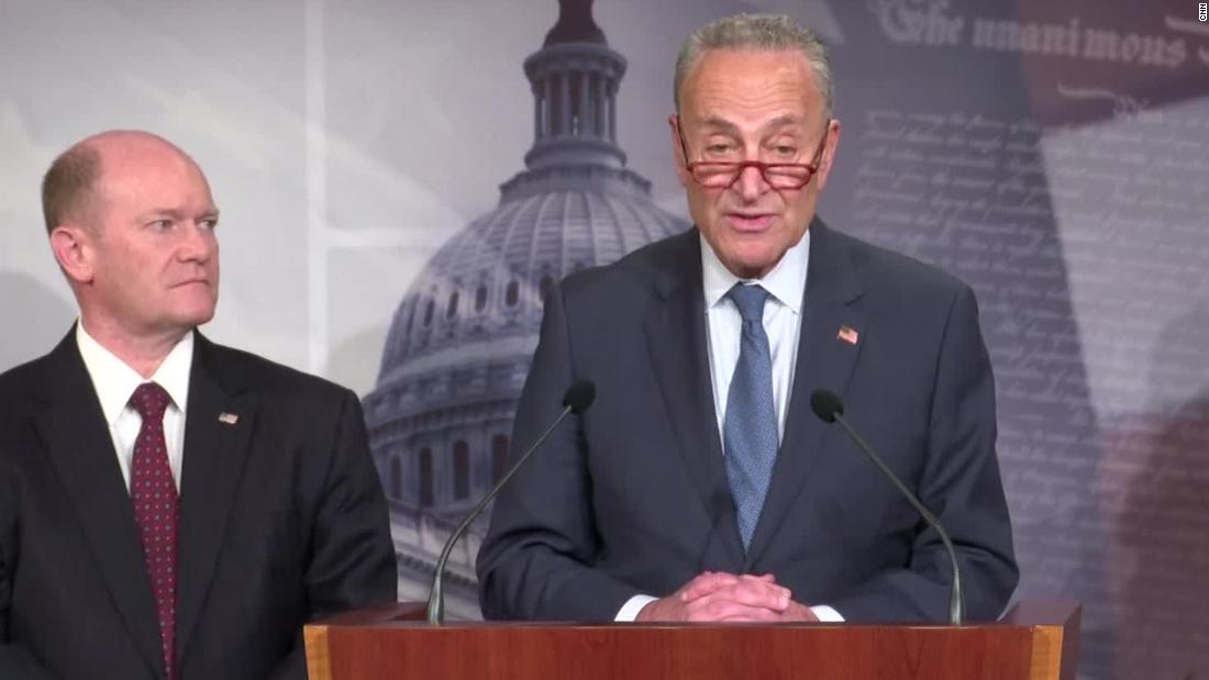 Photo of Schumer on Senate impeachment trial: 'We are going to power votes' on witnesses and paperwork