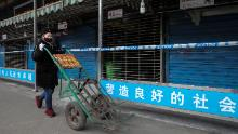 The closed Huanan Seafood Wholesale Market has been linked to the coronavirus outbreak in China.