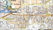 A map released by the police, showing the area where the rapes took place.