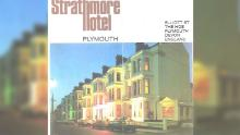 A poster showing the Strathmore Hotel, where rape took place.